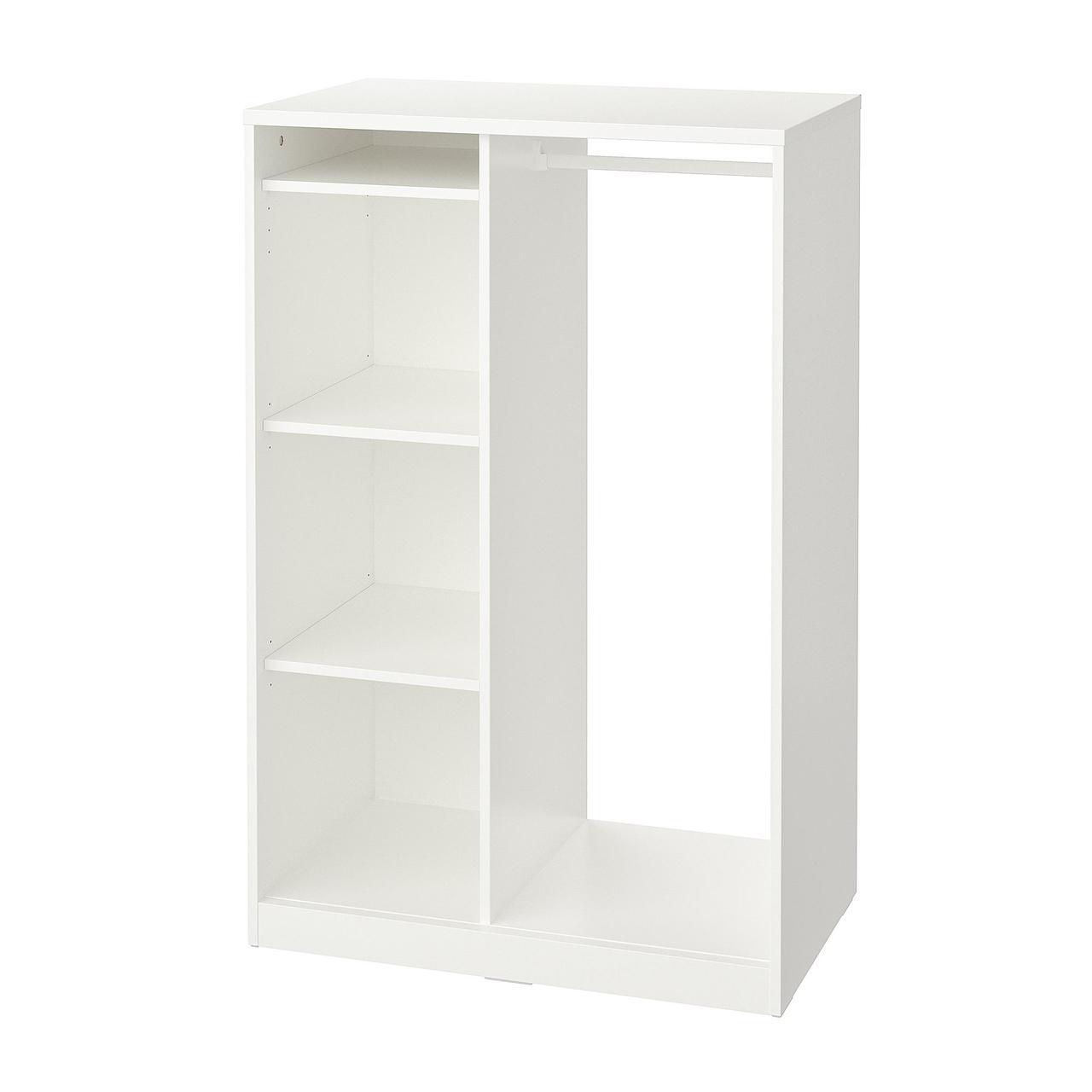 Открытый гардероб IKEA SYVDE белый 80x123 см 704.395.73