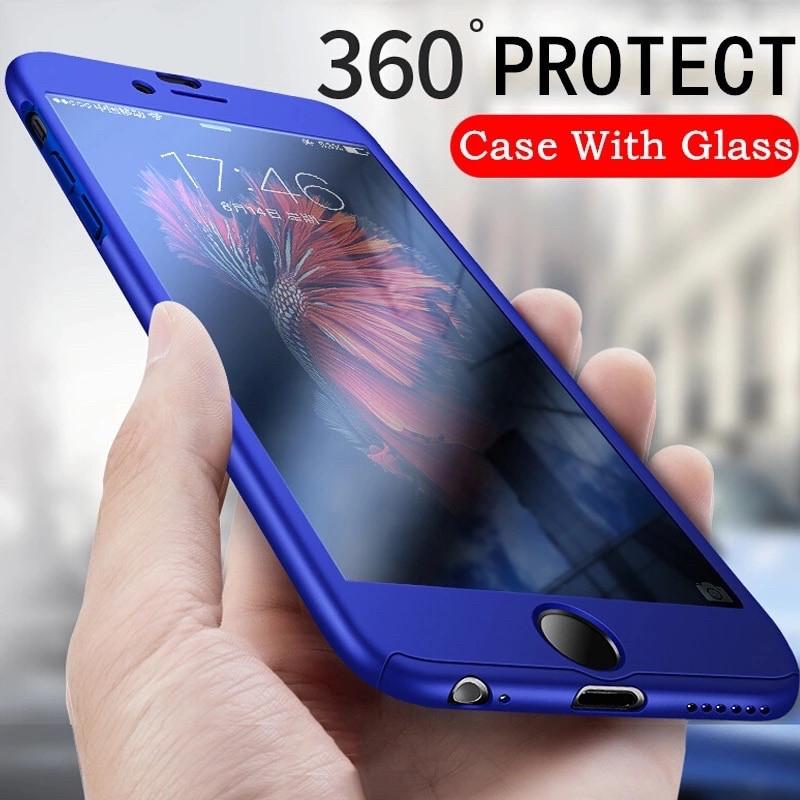 Чехол 360° + стекло для Iphone 7/8 blue