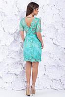 Платье вечернее короткое кружевное Ментол, фото 2