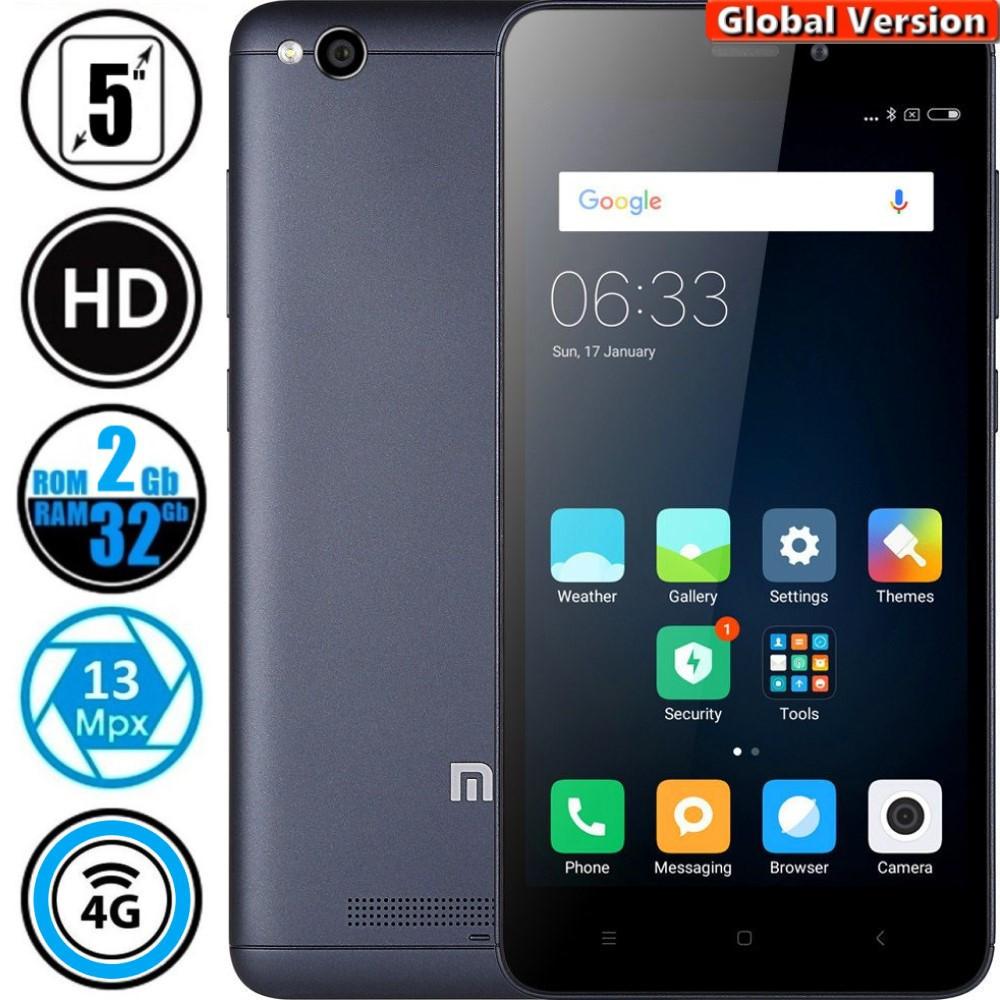 Смартфон Xiaomi Redmi 4A 2/32Gb Grey (Global Version) + Подарок Защитное Стекло