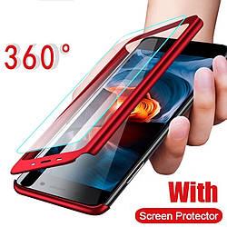 Чехол 360°  Iphone 7/Iphone 8 + стекло в подарок, red