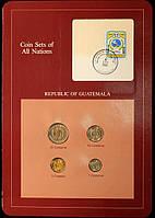 Набор монет Гватемалы 1-25 сентаво 1983-1985 гг (4 шт)