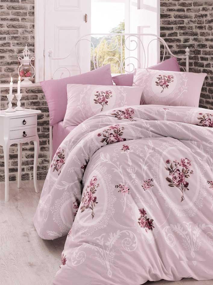 Полуторный комплект постельного белья Arya Ранфорс 160х220 Majesty (TR1002001)