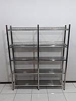 Стеллаж для сушки посуды 1500х320х1800 (с сплошными полками), фото 1