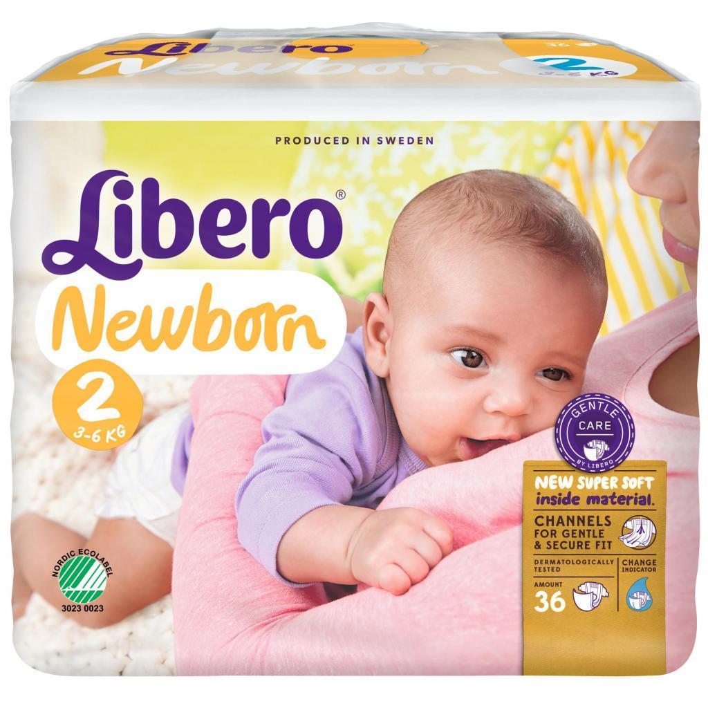 Подгузник Libero Newborn 2 (3-6кг) 36 шт (7322540694635)