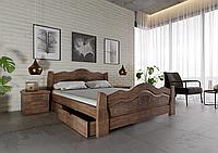 Кровать деревянная полуторная Корона
