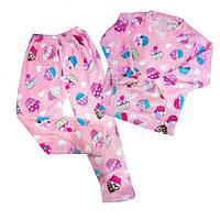Теплая велюровая пижама для девочки