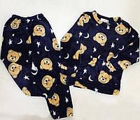 Теплая велюровая пижама для мальчика мишки