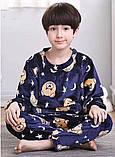 Теплая велюровая пижама для мальчика мишки, фото 2