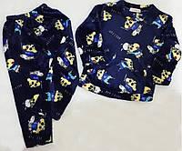 Теплая велюровая пижама для мальчика светлячок
