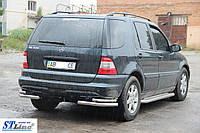Mercedes ML163 (97-05) защитная дуга защита заднего бампера на для Мерседес МЛ163 Mercedes ML163 (97-05) d60х1,6мм