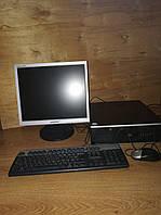 Компьютер в сборе, с монитором_HP 6000 Сompaq _ Е6500/ 2ГБ _DDR3/ 80ГБ_Офисно-домашний