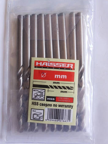 Сверло по металлу HSS Ø1.0ММ Haisser аналог советского Р6М5, фото 2