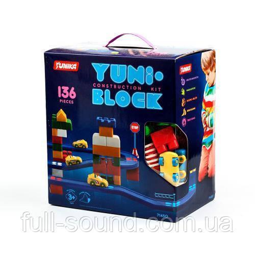 Детский конструктор yuni block 136 деталей
