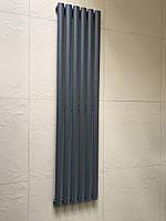 Дизайн радиаторы Модель «Rimini 6/1500» Цвет антрацит матовый.