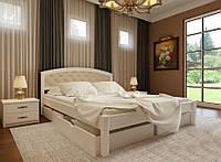 Кровать деревянная полуторная Британия М с мягким изголовьем