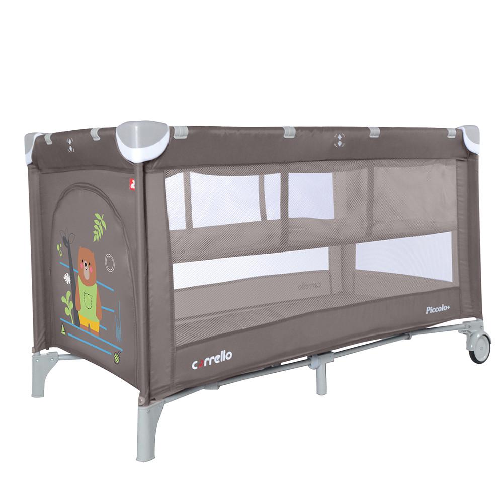 Манеж-кровать CARRELLO Piccolo+ CRL-9201/2 Chocolate Brown со вторым дном