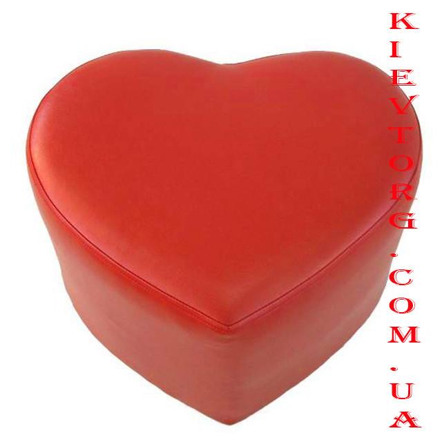 Пуф (банкетка) сердце, цвета в ассортименте