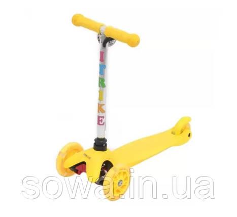 Детский 3-х колесный Самокат iTrike BB 3-013-4-H  ( желтый с подсветкой ), фото 2