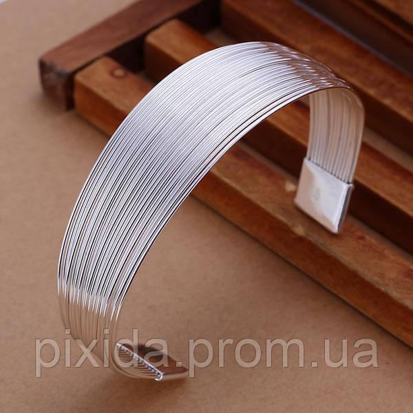 Браслет открытый жгутик покрытие 925 серебро