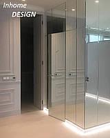 Скрытые двери со стеклом