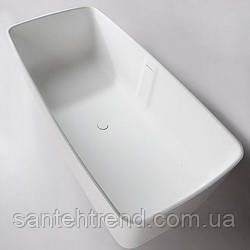 VOLLE Ванна отдельностоящая каменная Solid surface 1680*800*530mm
