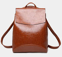 Женская сумка-рюкзак трансформер Rosso brown
