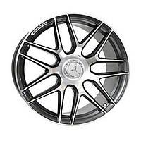 Литые диски Replica Mercedes (MR957) R21 W10 PCD5x130 ET33 DIA84.1 (satin black with red stripe fo)