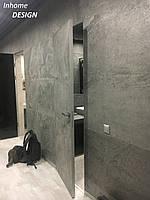 Двери скрытого монтажа  с покрытием каменный шпон