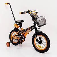 Детский двухколесный велосипед с ручкой  (на рост от 105 см) на 14 дюймов  Racer