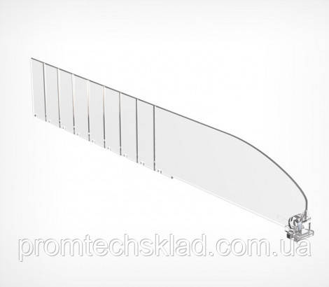 Пластиковый разделитель высотой 60 мм, длиной 385 мм DIV60-В