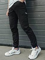 Мужские брюки карго(стаф) Staff cargo dark modern FFK0016 Черные