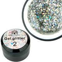 Гель с блестками для ногтей Glitter Gel Global Fashion, №2