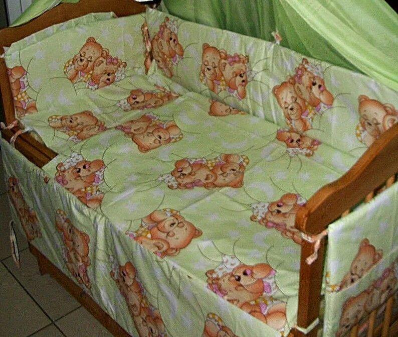 """Детский постельный комплект 9 элементов """"Мишки"""""""