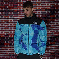 Пуховик мужской The North Face Jacket Scuba Blue Tie Dye, до -20