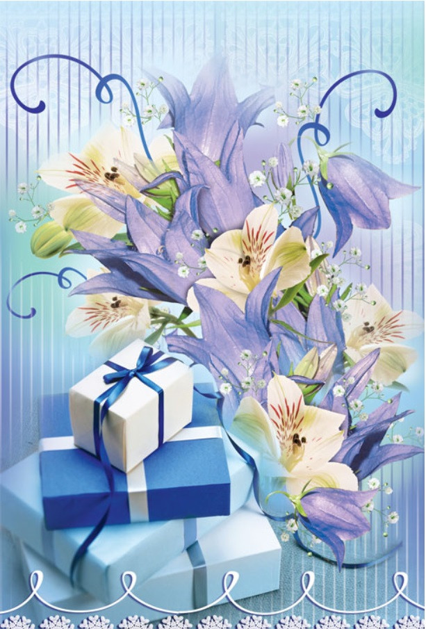 Подарочный пакет СРЕДНИЙ17*26*8 см Подарочек