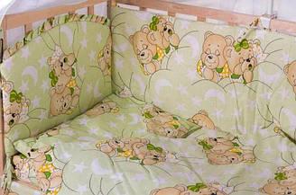 """Детский постельный комплект 9 элементов """"Мишки спят"""""""