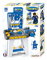 Детский набор Мини-мастерская: станок, тиски, молоток, 25 аксессуаров