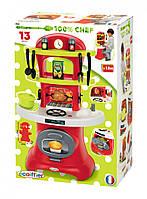 Детская игрушечная кухня Chef-Cook с грилем и посудой, 13 аксессуаров