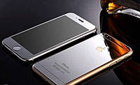 Противоударные защитные цветные зеркальные серебрянные каленые стекла для Iphone 6/6s