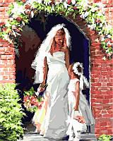 Раскраски для взрослых 40×50 см. Свадебный ангел Художник Ричард Макнейл