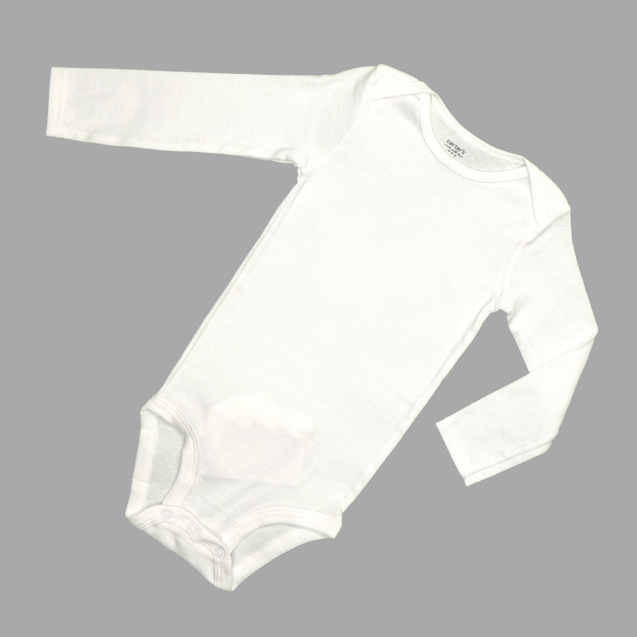 Боді дитячий білого кольору Carter's на довгий рукав 9.12.18.24 місяців