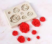"""Молд силиконовый """"7 роз"""", 8*6*1 см."""