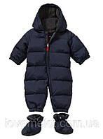 Детский зимний комбинезон на пуху GAP синий унисекс теплый комбез, размер 18-24 мес рост 90см