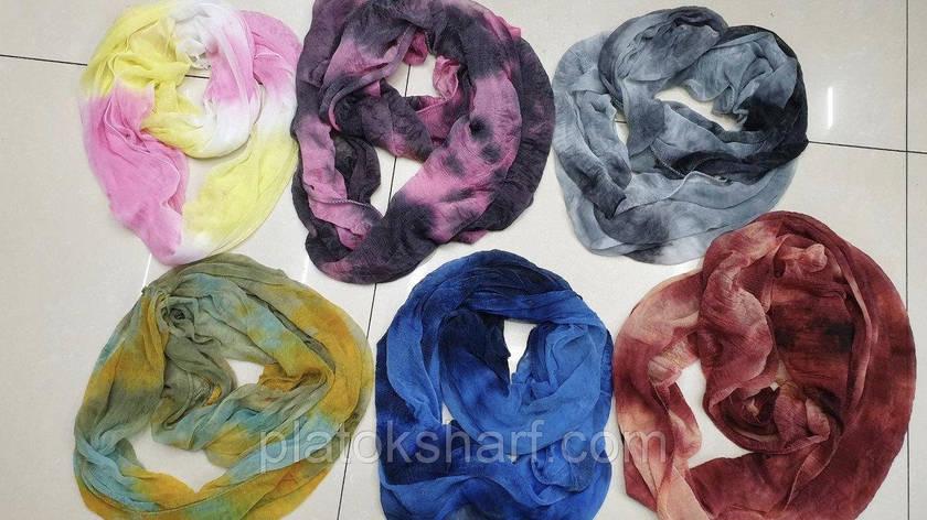 Хомуты шарфы женские красивые Меланж,, фото 2