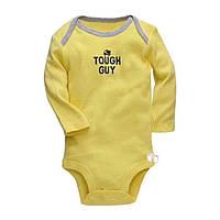 Боді дитячий для хлопчика фірми Carter's з жовтого кольору з малюнком грузовичка 3.6.9.12.18місяців