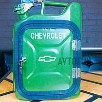 """Канистра-бар 10 л """"Chevrolet"""". Топ начинка и подстветка. Нанесем любую надпись. Минибар из канистры."""