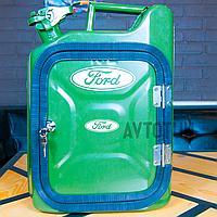"""Канистра-бар 10 л """"Ford"""". Топ начинка и подстветка. Нанесем любую надпись. Минибар из канистры."""