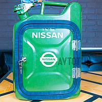"""Канистра-бар 10 л """"Nissan"""". Топ начинка и подстветка. Нанесем любую надпись. Минибар из канистры."""