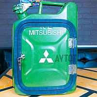 """Канистра-бар 10 л """"Mitsubishi"""". Топ начинка и подстветка. Нанесем любую надпись. Минибар из канистры."""
